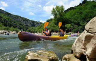 Les Gorges de l'Ardècheen canoë
